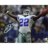 Emmitt Smith Autographed Dallas Cowboys 16x20 Photo Arms Up JSA