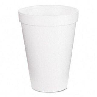 Dart 12J12 Drink Foam Cups- 12 oz.- White- 40 Bags of 25/Carton