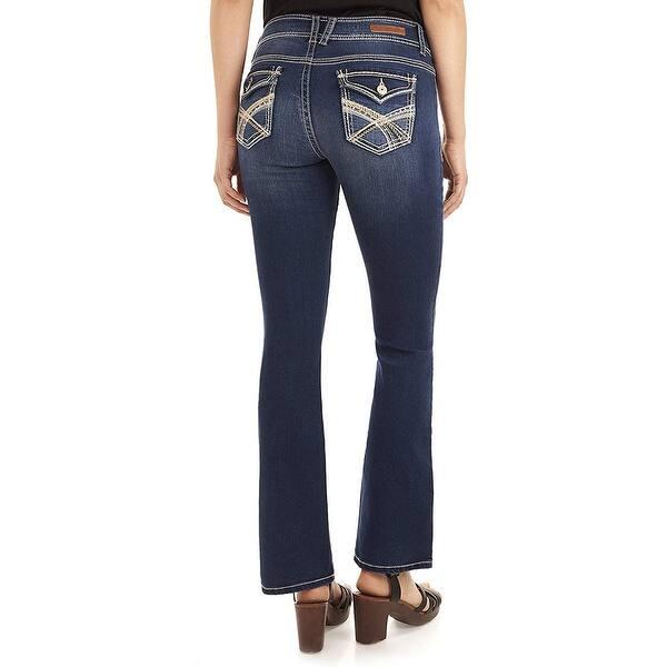Wallflower Luscious Curvy Bootcut Jeans Juniors Panther Dark Denim Jean