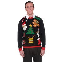 Forum Novelties Christmas Sweater Icons Adult Costume (M) - Black - Medium