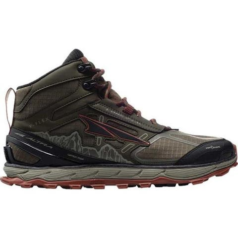 Altra Footwear Men's Lone Peak 4.0 Mid Mesh Trail Running Shoe Ivy Green/Red Clay