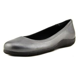 Walking Cradles Dee Women N/S Round Toe Leather Gray Flats