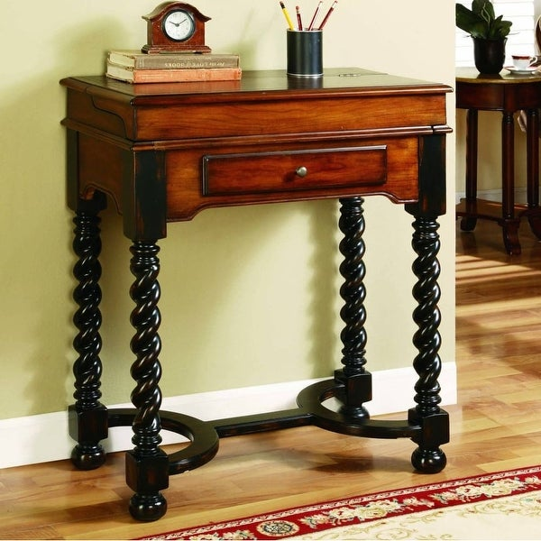 Furniture 500 50 699 28 Inch Wide Hardwood Writing Desk From The Jacobean