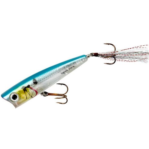 Rebel Super Pop-R 5/16 oz Fishing Lure - Blue Darter - Blue Darter - 5/16 oz.