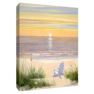 "PTM Images 9-148487  PTM Canvas Collection 10"" x 8"" - ""Beach at Sunset II"" Giclee Beaches Art Print on Canvas"