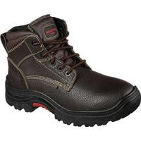 Skechers Men's Work Relaxed Fit Burgin Congaree Boot Brown