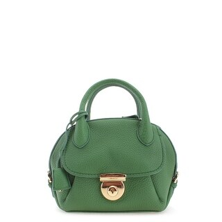 Salvatore Ferragamo Small Ginny Leather Tote Handbag - Green - S