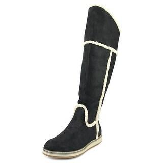 Nine West Deep Snow Women Round Toe Suede Black Knee High Boot