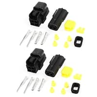 Unique Bargains 2 Set 2-way 2 Positions Sealed Waterproof Wire Connectors for Car Auto Stereo