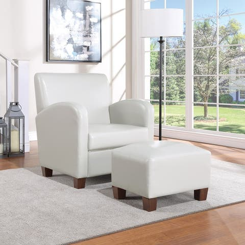 Aiden Chair & Ottoman with Espresso Legs