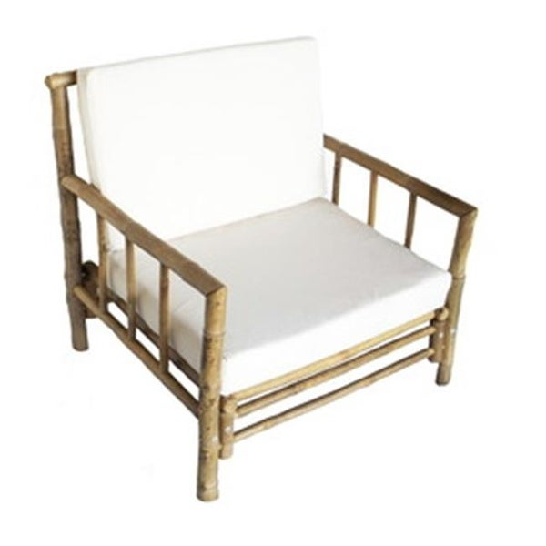 Shop Bamboo 5855 Chai Chair With Cushion 30 X 32 X 32 In Free