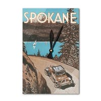 Spokane, Washington - Vintage Advertisement (Acrylic Wall Clock) - acrylic wall clock