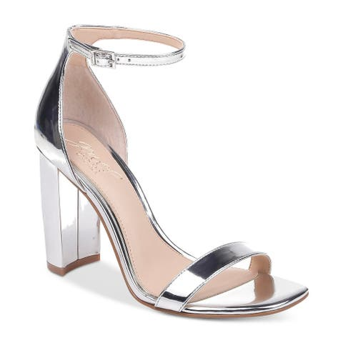 BADGLEY MISCHKA Womens keshia Fabric Open Toe Ankle Strap Classic Pumps