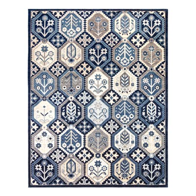 """Herne Quito Blue Area Rug (5'3"""" x 7') by Gertmenian"""