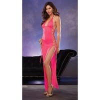 Lace Up Side Gown - Flamingo - One Size Fits Most