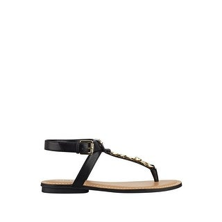 GUESS Womens Gurri Split Toe Casual T-Strap Sandals