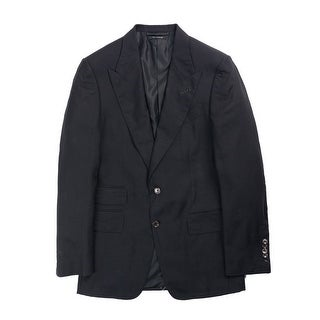 Tom Ford Black Shelton Base Cashmere Cardigan Jacket - 36r