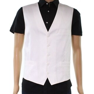 INC NEW White Mens Size Medium M Button Down Slim Fit Collins Vest