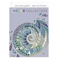 BIC 1569537 Adult Coloring Books, Calm Designs - Pack of 6