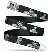 Joker Stare Full Color Black White Grays Green The Joker 4 Laughing Seatbelt Belt