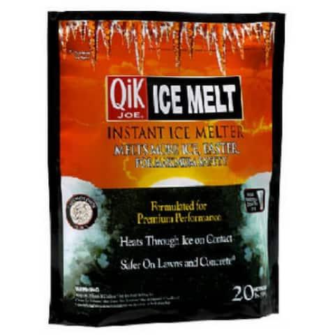 Qik JoeA 30020 Calcium Chloride Pellets Instant Ice Melter, 20 Lb