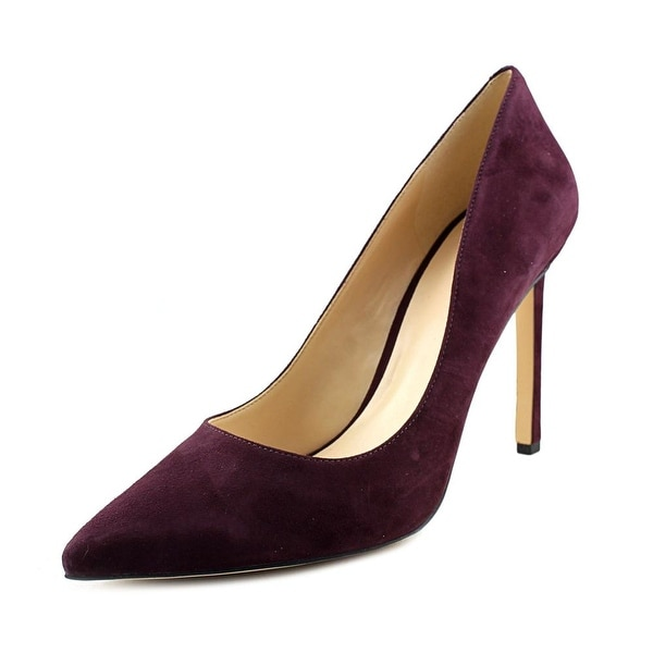 Nine West Tatiana Women Pointed Toe Synthetic Burgundy Heels