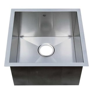 "Artisan CPUZ1919-D10 19"" Single Basin Undermount Stainless Steel Kitchen Sink with V-Therm Shield Technology from the Chef Pro"