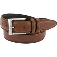 Florsheim Men's Pebble Grain Leather Belt Cognac Action Leather
