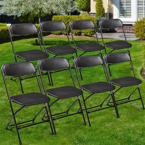 8 Plastic Stackable Commercial Wedding Party Folding Chair