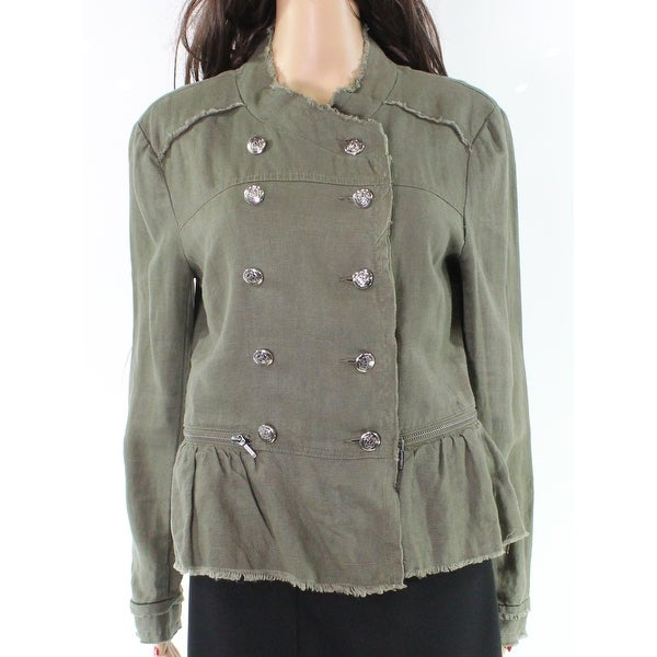 8e09bb4888 Shop INC NEW Green Olive Frayed Peplum Women s Size Medium M Military  Jacket - Free Shipping On Orders Over  45 - Overstock - 21256273