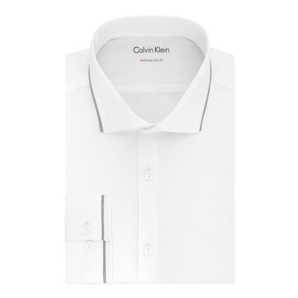 64827c9bd18f Shop Calvin Klein Mens Dress Shirt Extreme Slim Fit Stretch - 15-15.5 34/35  - Free Shipping Today - Overstock - 22383227