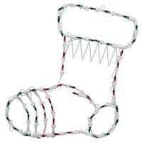 "18"" Lighted Stocking Christmas Window Silhouette Decoration (Pack of 4)"