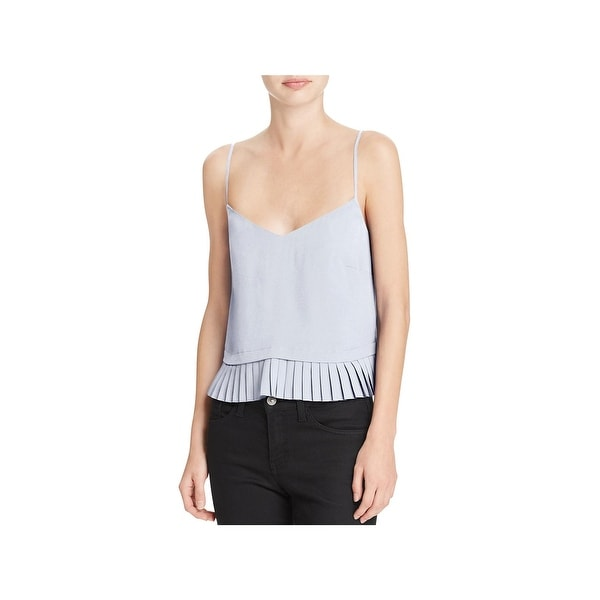 Shop French Connection Womens Polly Blouse Pleated V-Neck