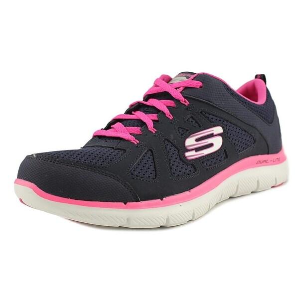 Skechers Flex Appeal 2.0 Simplistic Women Round Toe Synthetic Blue Sneakers