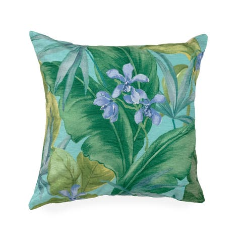 Liora Manne Illusions Tropical Leaf Indoor/Outdoor Pillow