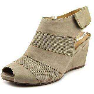 Earthies Manza Open Toe Leather Wedge Heel