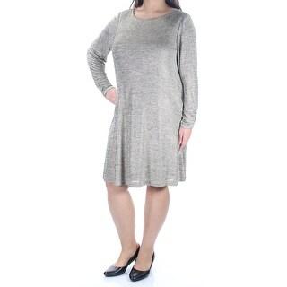 JESSICA HOWARD $99 Womens 1206 Gold Chevron Metallic Dress 16W Plus B+B