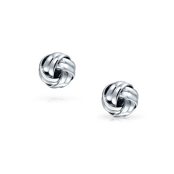 Gold Plated Solid 925 Sterling Silver Double Knot Woven Ball Braided Twist Cable Shirt Cufflinks For Men Executive Gift