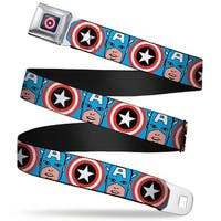 Marvel Comics captain America Shield Full Color Navy Captain America Face Seatbelt Belt
