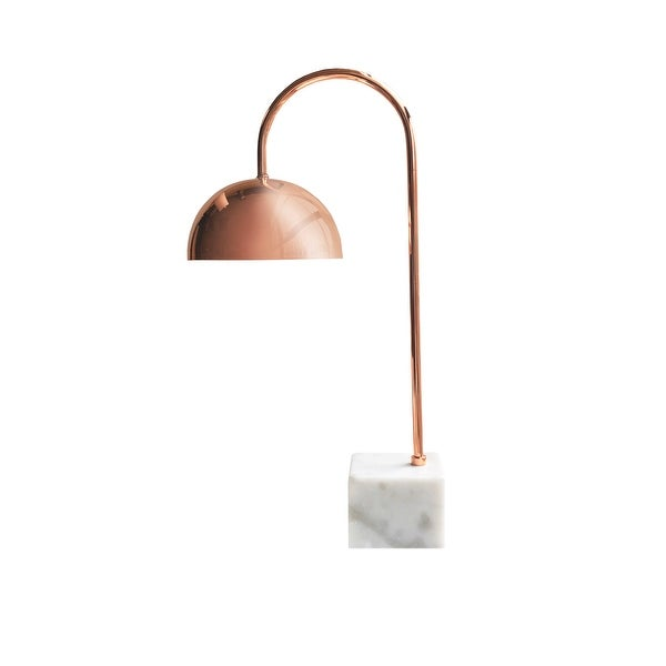 American Atelier Desk Lamp Rose Gold Metal With Marble Base