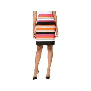 Kasper Womens Petites Pencil Skirt Striped Business - 16p