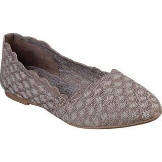 Skechers Women's Cleo Honeycomb Ballet Flat Dark Taupe