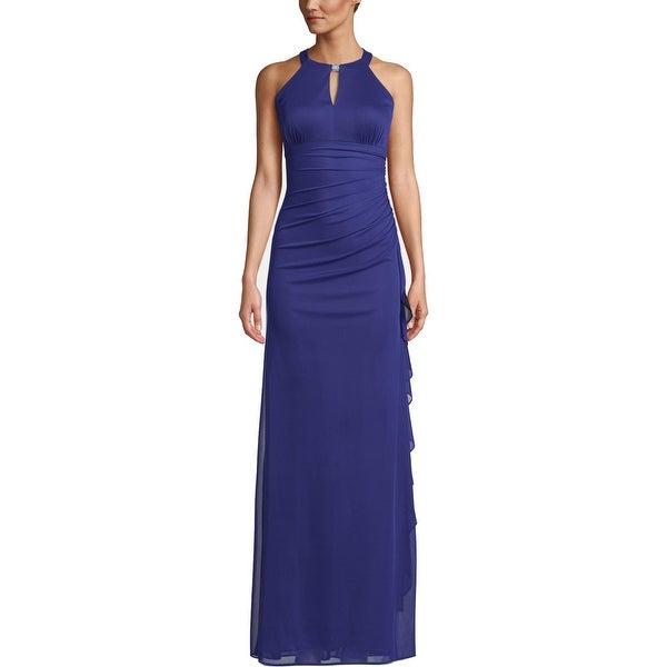 Betsy & Adam Womens Evening Dress Embellished Keyhole. Opens flyout.