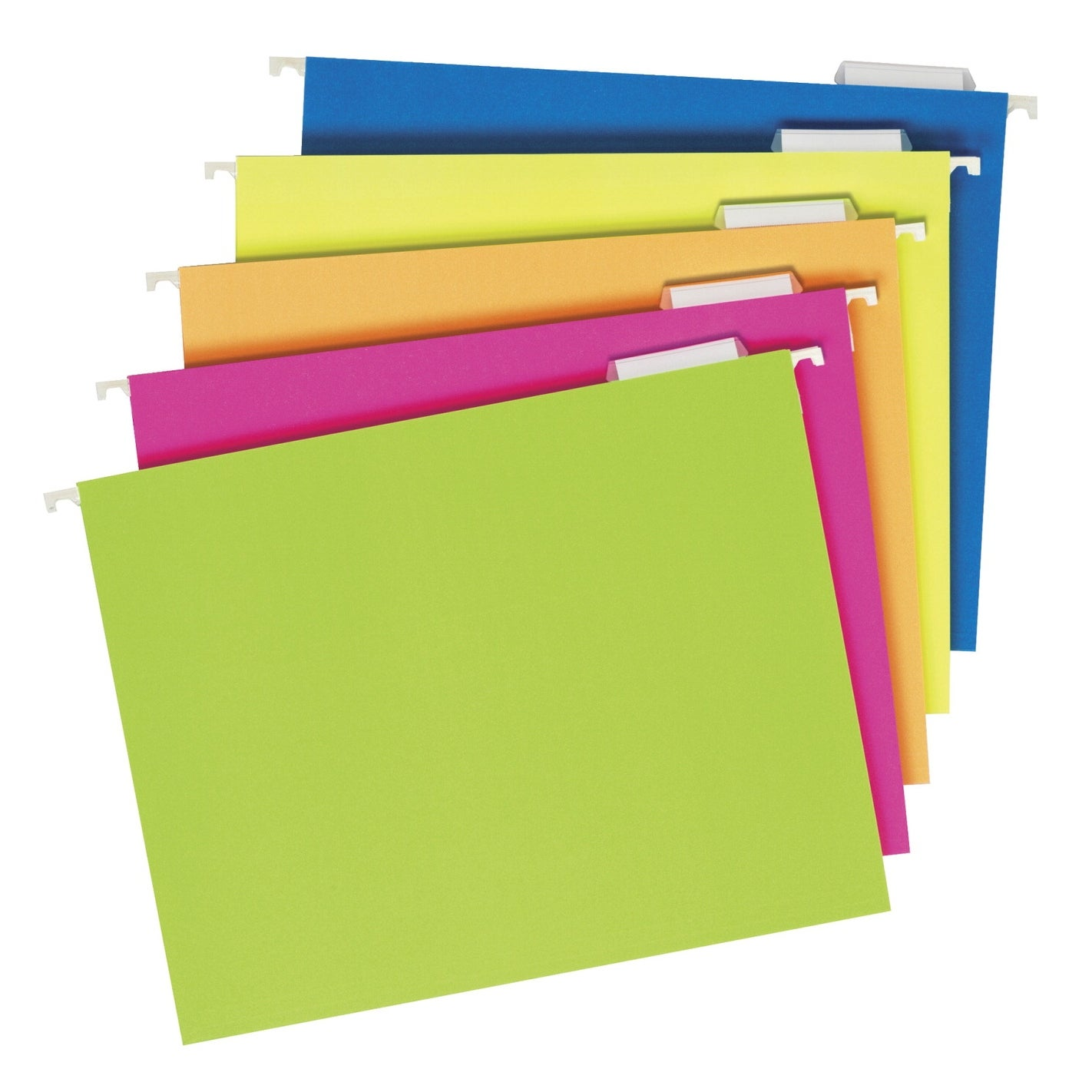 Reinforced Hanging Folders Letter 25//Box Glow Assorted Sold as 25 Each 1//5 Tab