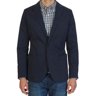 Nautica NEW Navy Blue Mens Size XL Two Button Notched Lapel Blazer