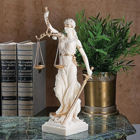 Design Toscano Themis, Blind Justice Bonded Marble Statue