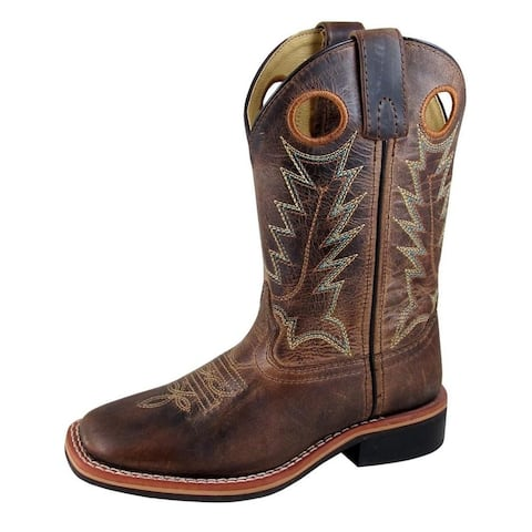 Smoky Mountain Western Boots Boys Jesse Square Toe Brown