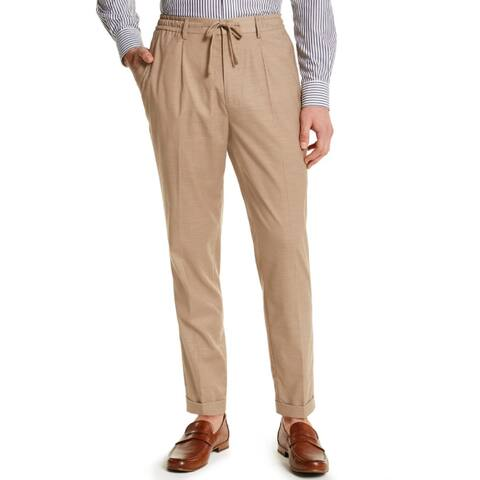 Tasso Elba Men's Classic-Fit Tropical Weight Dress Pants,Sand Combo, M