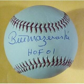 Bill Mazeroski Autographed Pittsburgh Pirates MLB Baseball wHOF 01