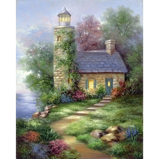 "Acrylic Paint Your Own Masterpiece Kit 11""X14""-Romantic Lighthouse"